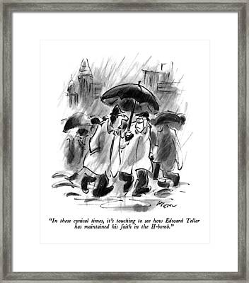 In These Cynical Times Framed Print