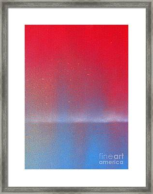 Framed Print featuring the painting In This Twilight by Roz Abellera Art