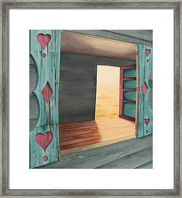 In Through The Window  Out Through The Door Framed Print