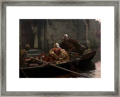 In Time Of Peril Framed Print by Edmund Blair Leighton