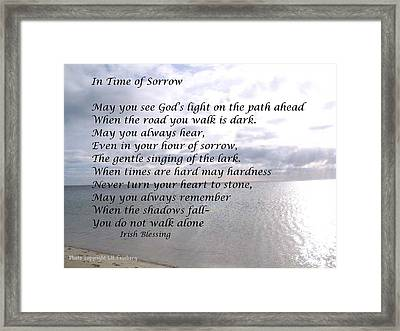 In Time Of Sorrow Framed Print