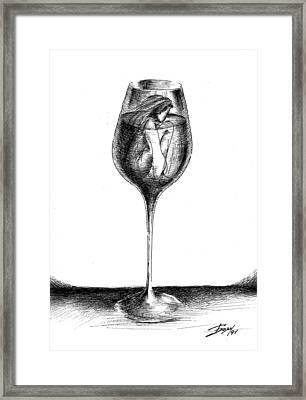 In Vino Veritas Framed Print by Boyan Donev