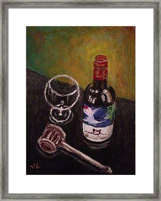In Vino Veritas Framed Print