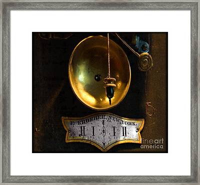 In Which Events Pass From The Future Through The Present To The Past Framed Print by Steven Digman
