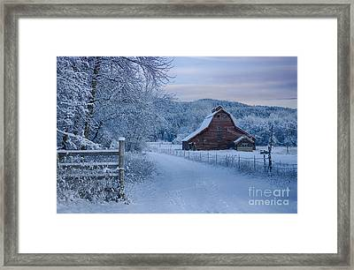 In Winter White Framed Print by Idaho Scenic Images Linda Lantzy