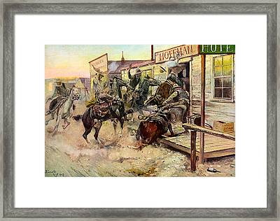 In Without Knocking Framed Print