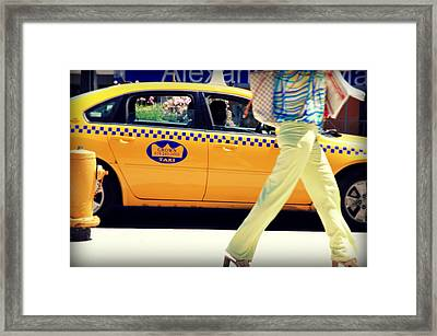 In Yellow Framed Print by Valentino Visentini