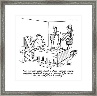 In Your Case Framed Print by Tom Cheney
