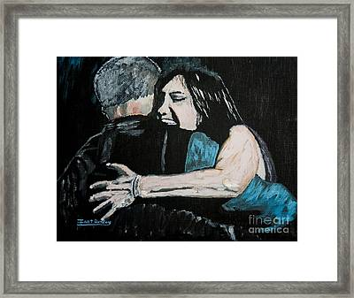 In Your Daddy's Arms Again Framed Print by Ian Donley