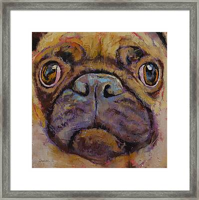 Pug Framed Print by Michael Creese