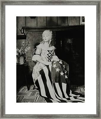 Ina Claire As Betsy Ross Framed Print by Charles Sheeler