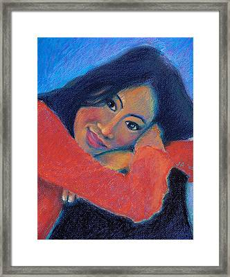 Ina In Pastels Framed Print by Janet Ashworth