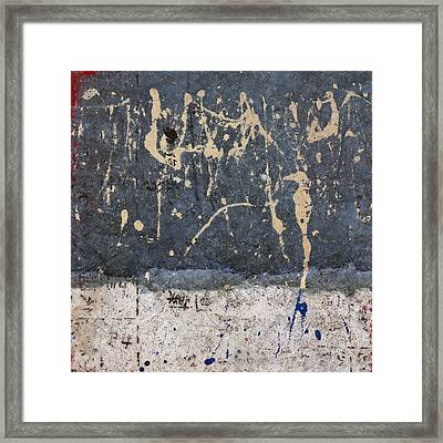Inadvertent Calligraphy Framed Print by Carol Leigh