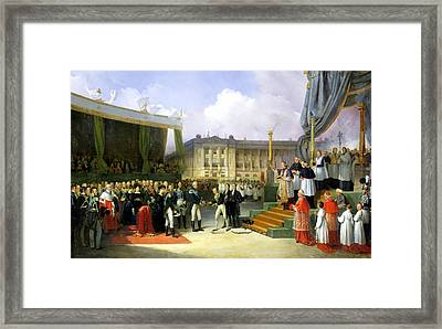 Inauguration Of A Monument In Memory Of Louis Xvi 1754-93 By Charles X 1757-1836 At The Place De La Framed Print