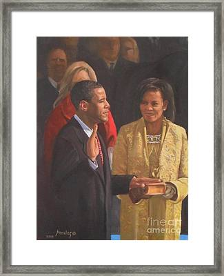 Inauguration Of Barack Obama Framed Print
