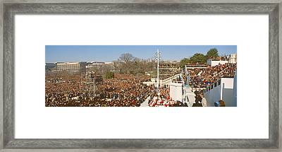 Inauguration Of President William Framed Print