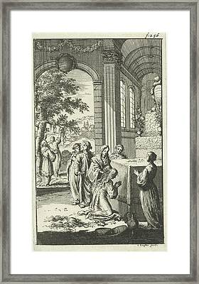 Inauguration Of Pyrophylactic Virgins, Jan Luyken Framed Print by Jan Luyken And Jan Claesz Ten Hoorn