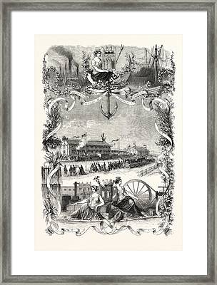 Inauguration Of Railway Bordeaux Tonneins First Section Framed Print by English School