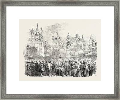 Inauguration Of The Statue Of William The Conqueror Framed Print by English School