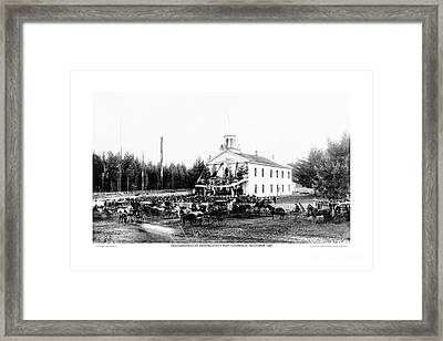Framed Print featuring the photograph Inauguration Of Washington States First Governor 1889 by A D Rogers
