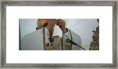 Inauguration Pope Francis Vatican  Rom 19 February 2013  Framed Print