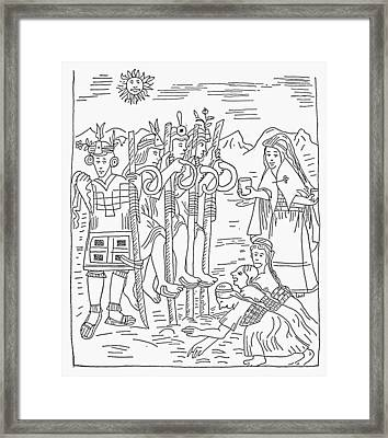 Inca Agriculture Framed Print by Granger