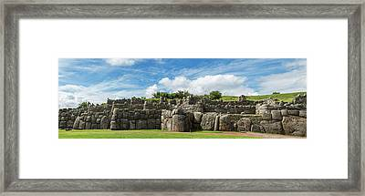Inca Archaeological Site, Saksaywaman Framed Print by Panoramic Images