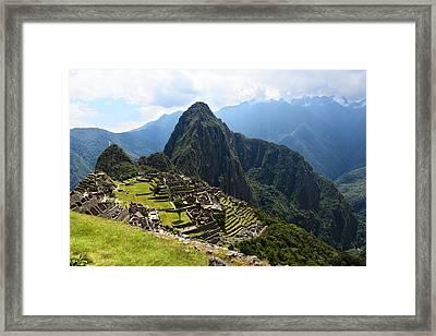 Inca City Machu Picchu Framed Print