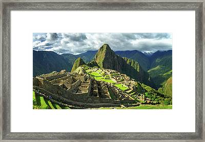 Inca City Of Machu Picchu, Urubamba Framed Print by Panoramic Images