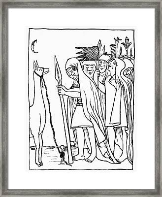 Inca Empire Dead Ruler Framed Print by Granger