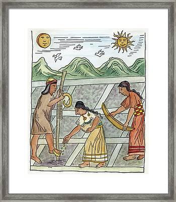 Inca Farmers, 1583 Framed Print by Granger