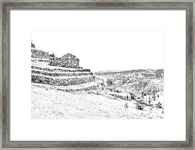 Inca Ruins On Cojitambo In Ecuador Framed Print