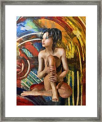 Inca Woman Framed Print by Georgiana Romanovna