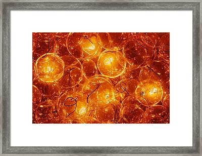 Incandescent Bulbs - Party Time Framed Print by Nikolyn McDonald