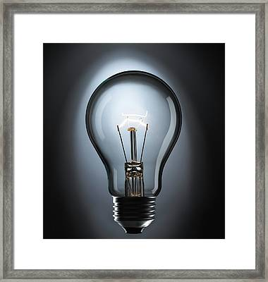 Incandescent Light Bulb Framed Print by Science Photo Library