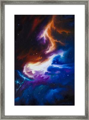 Incarus Nebula Framed Print by James Christopher Hill