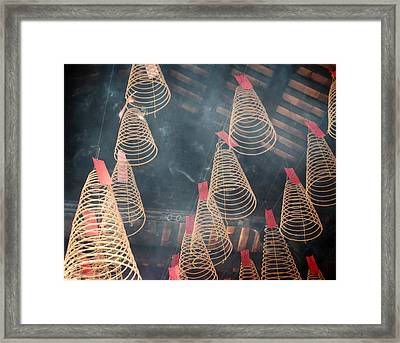 Framed Print featuring the photograph Incense Coils by Lucinda Walter