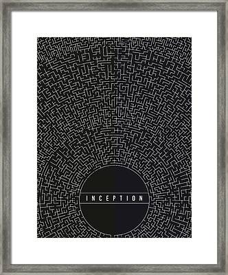 Framed Print featuring the digital art Inception Movie Poster by Mike Taylor