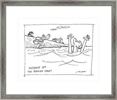 Incident Off The Spanish Coast Framed Print by Al Ross