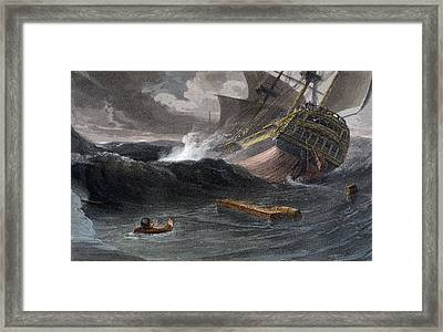 Incident On The Journey From China Framed Print by Thomas and William Daniell