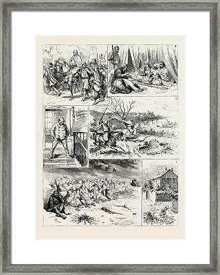 Incidents In The Daily Life Of H.h. Hadj Abdeslam Framed Print by Litz Collection
