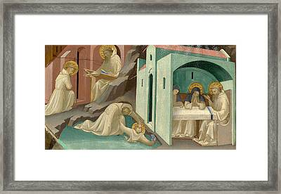 Incidents In The Life Of Saint Benedict Framed Print by Lorenzo Monaco