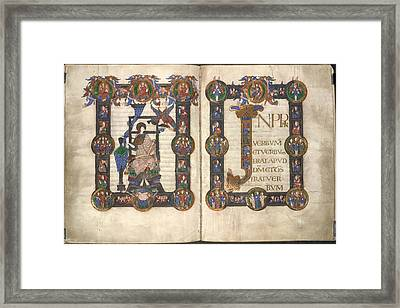 Incipit To St John's Gospel Framed Print by British Library