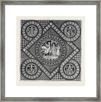 Incised Pavement In The Choir Of Lichfield Cathedral Framed Print