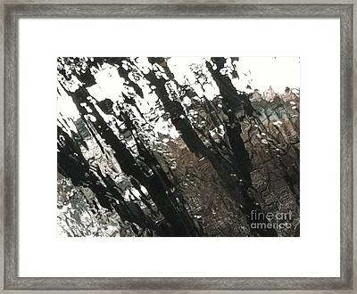 Incliment Patterns Framed Print