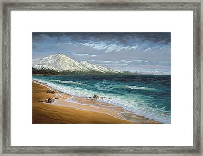 Incline Beach - North Shore - Lake Tahoe Framed Print