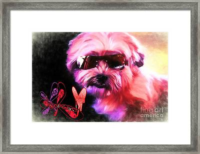 Framed Print featuring the digital art Incognito Innocence by Kathy Tarochione