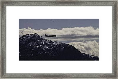 Incoming Flight Framed Print