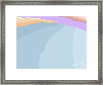 Incoming Sets At Sunset Framed Print