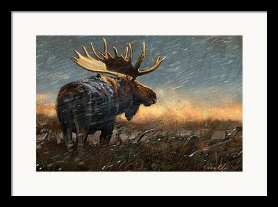 Moose Digital Art Framed Prints